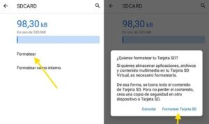 How to format the SD card, Format the android phone
