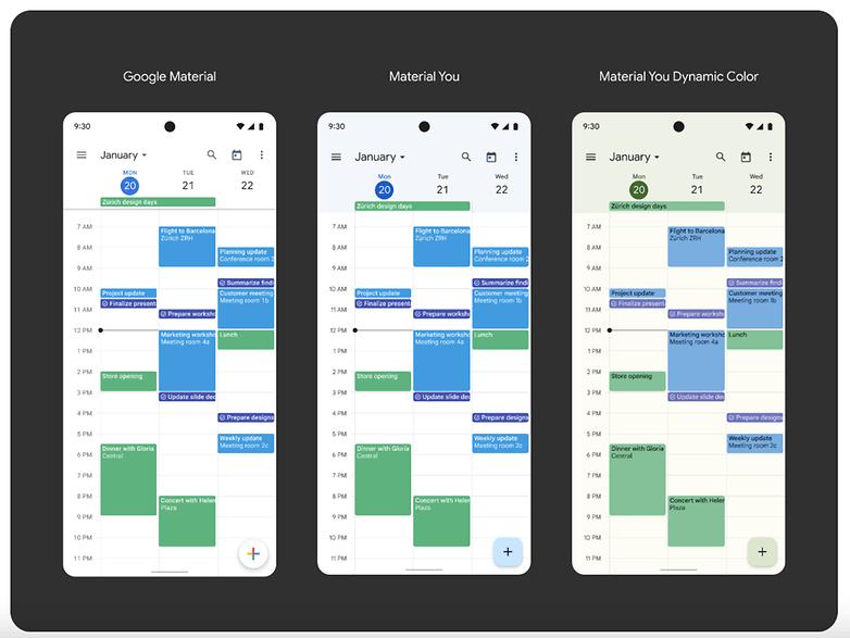 Material You Google Calendar