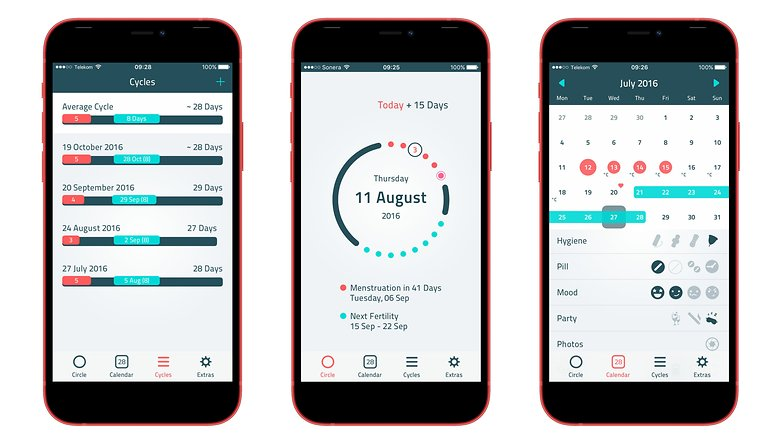 iWoman period tracking apps