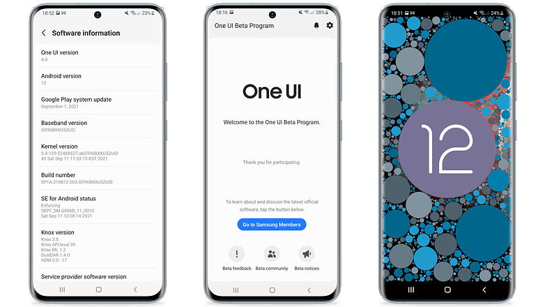 One UI 4 update, Android 12